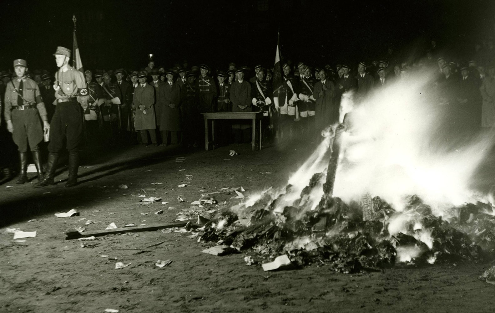 Burning controversial books